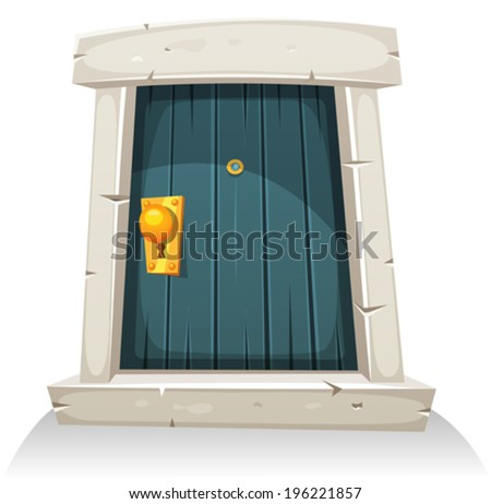 cartoon door  illustration of a