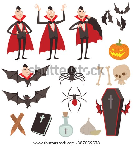 cartoon dracula vector symbols