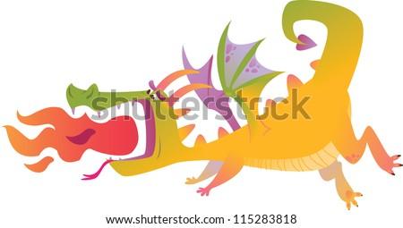 cartoon dragons in vector 2