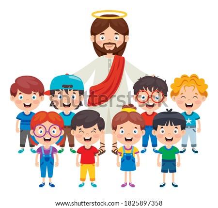Cartoon Drawing Of Jesus Christ Foto stock ©