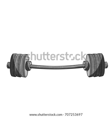 cartoon dumbbell weights