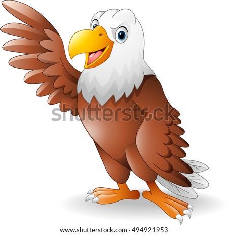cartoon eagle presenting