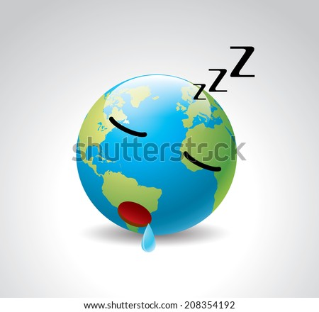 cartoon earth  sleeping