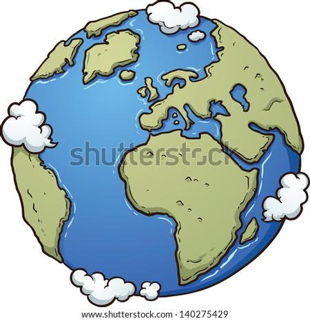 cartoon earth vector clip art