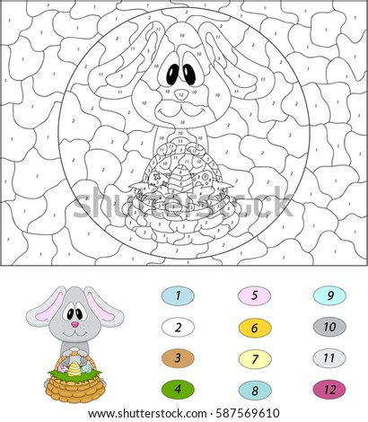 cartoon easter bunny with