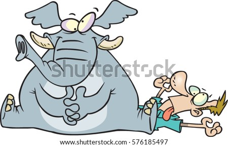 cartoon elephant sitting on a