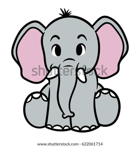 Sexy Elephant Cartoon Vector Images, Illustr...