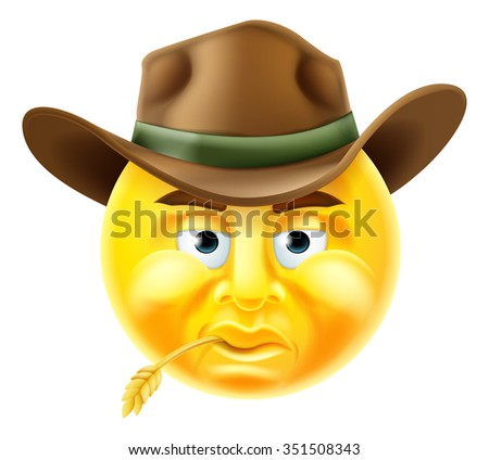 cartoon emoji emoticon cowboy
