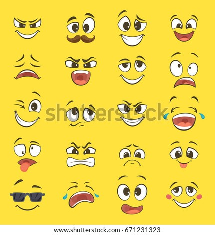 cartoon emotions with funny
