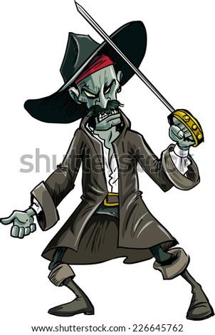 cartoon evil zombie pirate