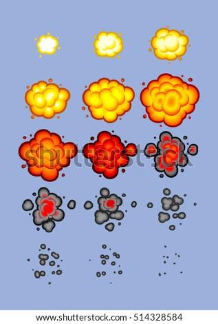 cartoon explosion animation