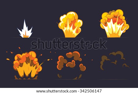 cartoon explosion effect with