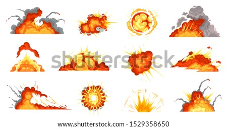 cartoon explosions exploding