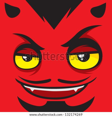 Cartoon expression satan