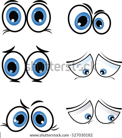 cartoon eyes in vector