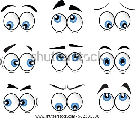 cartoon eyes in vector #582381598
