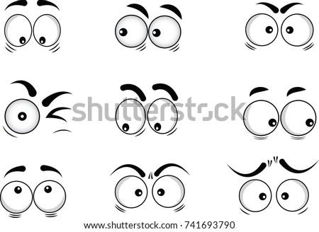 cartoon eyes in vector #741693790