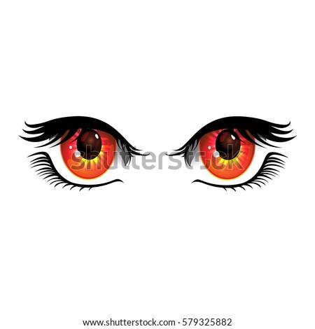 cartoon eyes on white
