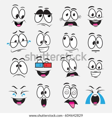 cartoon eyes with expression