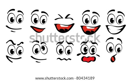 cartoon faces  for humor or