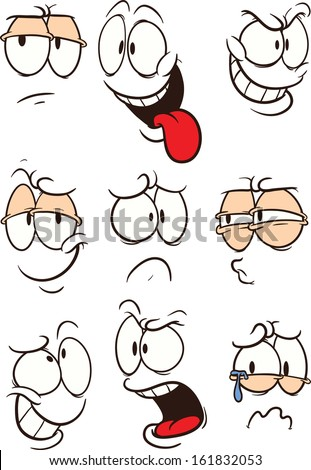Free Clipart Cartoon Faces Drawings