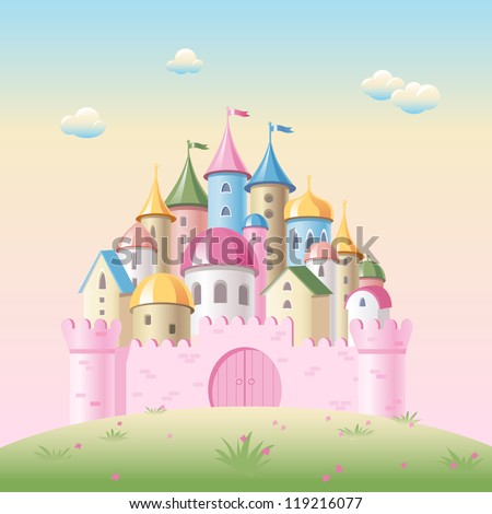 cartoon fairy tale castle