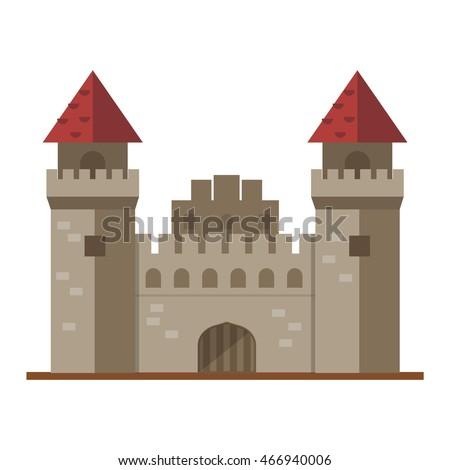 cartoon fairy tale castle tower