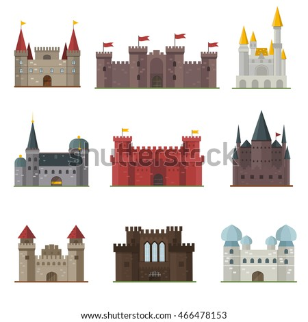 cartoon fairy tale castle tower