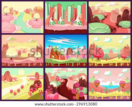 cartoon fairy tale landscape