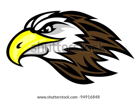 Cartoon falcon head for mascot or tattoo design. Jpeg version also available in gallery