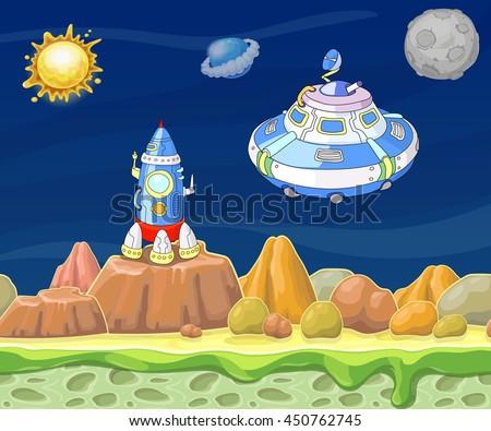 cartoon fantastic landscape