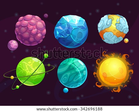 cartoon fantasy alien planets