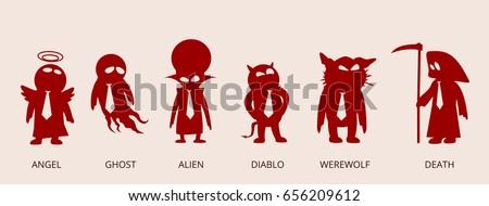 cartoon fantasy creatures