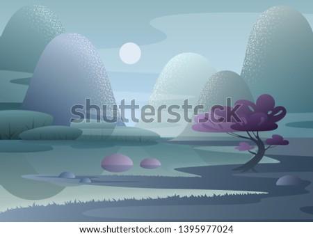 cartoon fantasy foggy morning