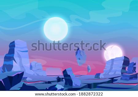 cartoon fantasy nature panorama