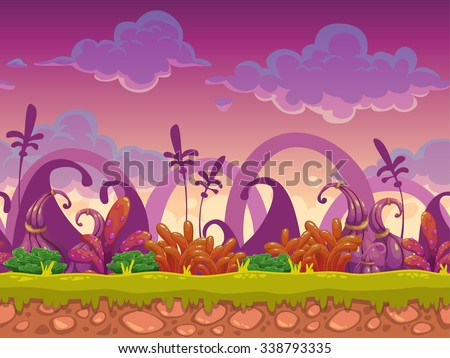 cartoon fantasy vector seamless