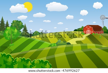 red barn farm background download free vector art stock graphics