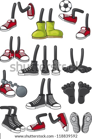Cartoon feet collection #118839592