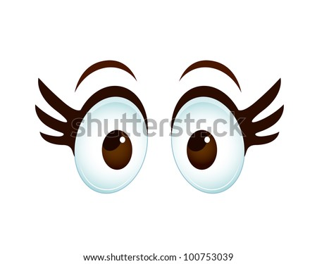 Cartoon Female Eye