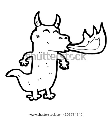 How to Draw a Cartoon Fire Breathing Dragon Cartoon Fire Breathing Dragon