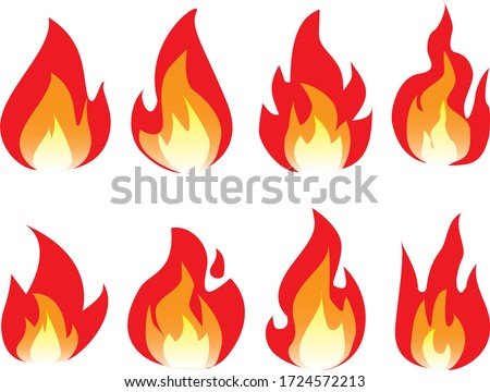 cartoon fire flame fires image