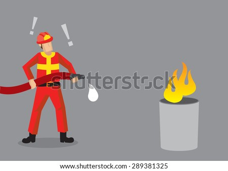 cartoon fireman standing in