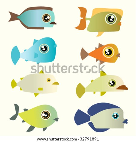 cartoon fish. stock vector : cartoon fish