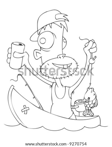 Funny+cartoon+fisherman