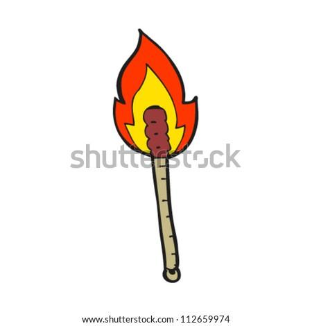 cartoon flaming torch