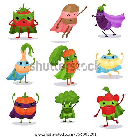 cartoon flat characters set of