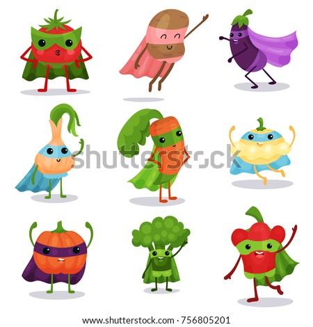 cartoon flat characters set of