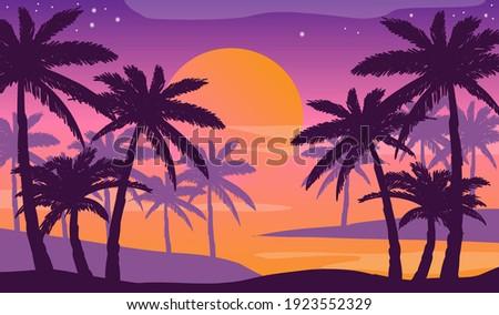 cartoon flat panoramic