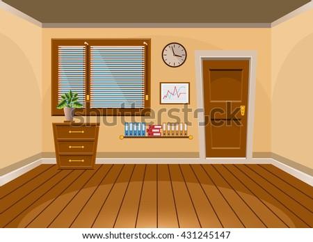 cartoon flat vector interior