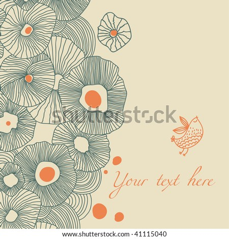 Cartoon floral background